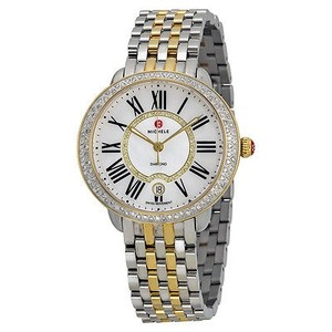 Michele Michele Serein Mother Of Pearl Two-tone Ladies Watch