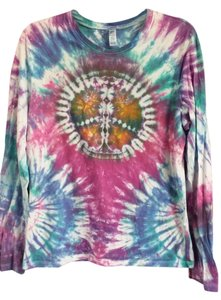 Bella Long Sleeve T-shirt Peace Sign Peace Hippie Boho T Shirt tie dye
