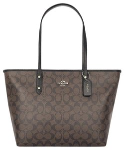 Coach Satchel F34103 36876 Tote in BRown Black GOLD TONE