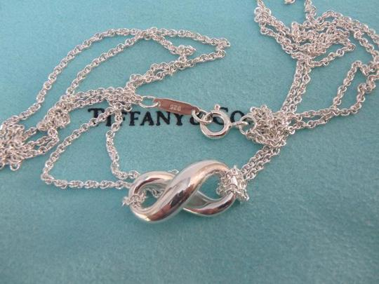 Tiffany & Co. sterling silver infinity double chain pendant necklace,