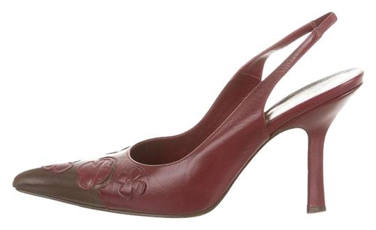 Chanel Red & Brown Pumps