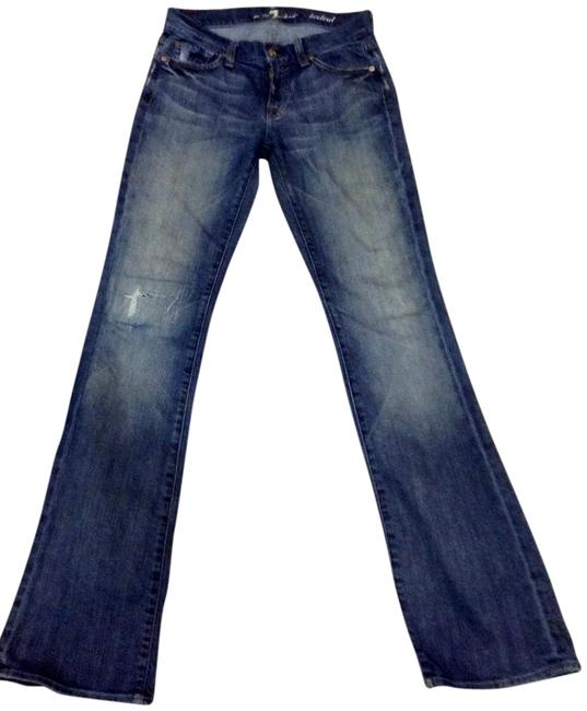 Preload https://item2.tradesy.com/images/7-for-all-mankind-dark-blue-designer-boot-cut-jeans-size-26-2-xs-15978886-0-1.jpg?width=400&height=650