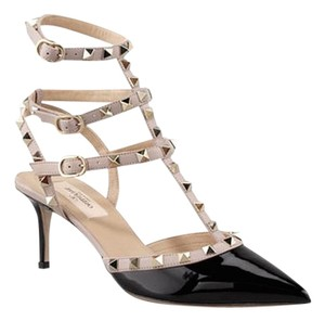 Valentino Studded Leather Black patent Pumps