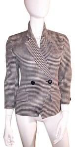 Dior black and white houndstooth Blazer