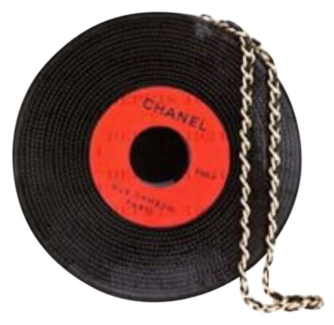 Chanel Record Black & Red Leather Wristlet Chanel Record Black & Red Leather Wristlet Image 1