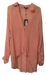 Tart Collections Button Down Shirt Blush pink