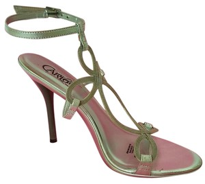 Carlos by Carlos Santana Strappy Party Wedding Hardware Silver Sandals