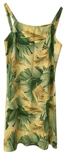 Tommy Bahama short dress Green, Yellow, Brown Summer on Tradesy