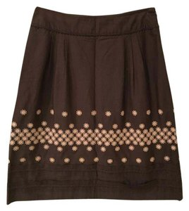 Cynthia Steffe Skirt Brown and Peach