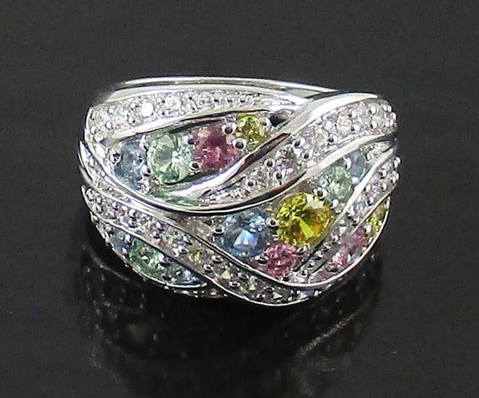 Victoria Wieck Victoria Wieck 2.21ct Absolute and Created Gemstone Sterling Silver Ring - Size 5