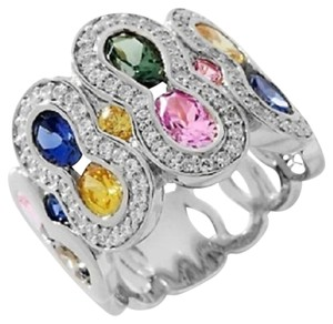 Victoria Wieck Victoria Wieck 5.33ct Absolute and Created Colors of Sapphire Band Ring - Size 6