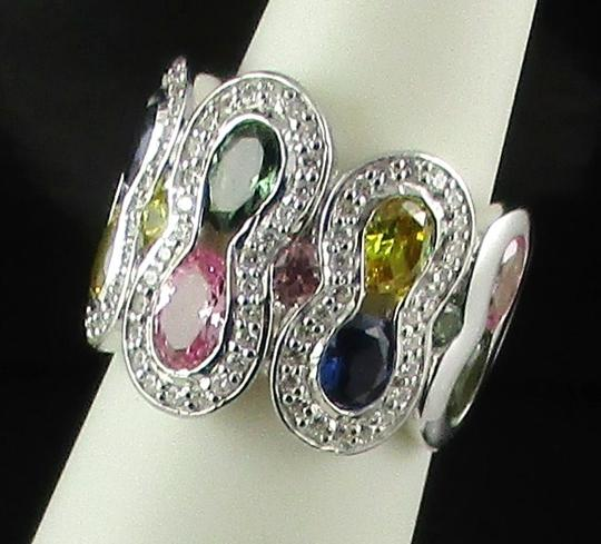 Victoria Wieck Victoria Wieck 5.33ct Created Colors of Sapphire Band Ring