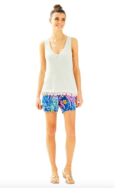 Lilly Pulitzer Jaya Sweater Sleeveless Metallic Top