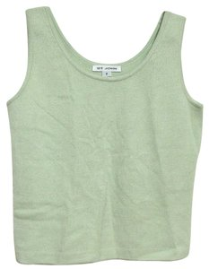 St. John Mint Light Sleeveless Shirt Marie Gray 6 Santana Knit 4 Usa Top green