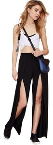 Nasty Gal Flare Pants Black