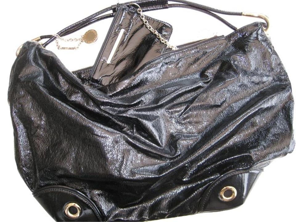 a0f2fe3f7606 Stella McCartney Faux Patent Vintage Hobo Vegan Leather Shoulder Bag Image  0 ...