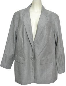 Lane Bryant New Silver 22 Blazer 2x Metallic Linen Nwt Cotton Plus Spring gray Jacket