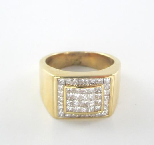 Other 14KT SOLID YELLOW GOLD RING 13.6 GRAMS 46 DIAMONDS 1.50 CT CLUSTER RING SIZE 8 Image 1