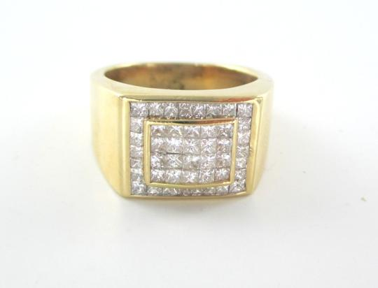 Other 14KT SOLID YELLOW GOLD RING 13.6 GRAMS 46 DIAMONDS 1.50 CT CLUSTER RING SIZE 8 Image 2