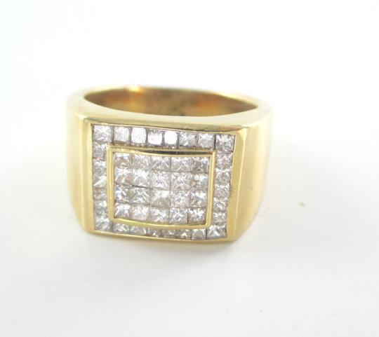 Other 14KT SOLID YELLOW GOLD RING 13.6 GRAMS 46 DIAMONDS 1.50 CT CLUSTER RING SIZE 8 Image 3