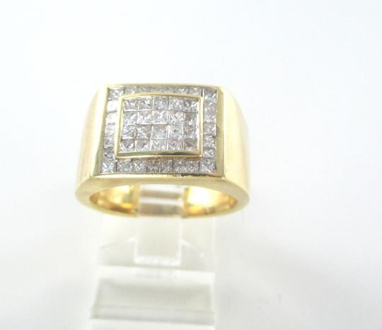 Other 14KT SOLID YELLOW GOLD RING 13.6 GRAMS 46 DIAMONDS 1.50 CT CLUSTER RING SIZE 8 Image 4