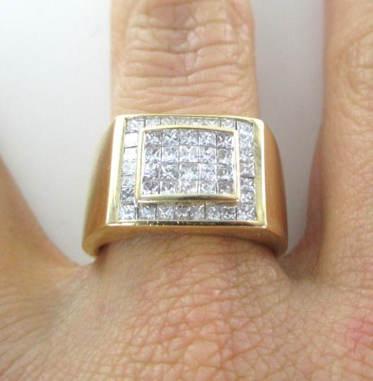 Other 14KT SOLID YELLOW GOLD RING 13.6 GRAMS 46 DIAMONDS 1.50 CT CLUSTER RING SIZE 8