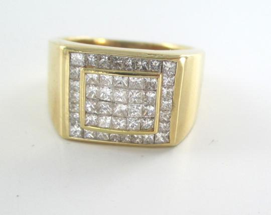 Other 14KT SOLID YELLOW GOLD RING 13.6 GRAMS 46 DIAMONDS 1.50 CT CLUSTER RING SIZE 8 Image 6