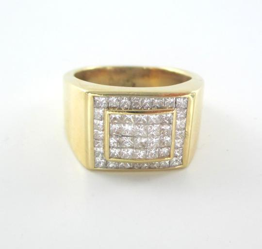 Other 14KT SOLID YELLOW GOLD RING 13.6 GRAMS 46 DIAMONDS 1.50 CT CLUSTER RING SIZE 8 Image 7