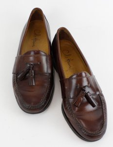 Cole Haan 9.5m Brown Leather Mens Tassel Loafers B113