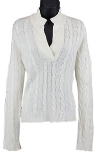 Evelyn Grace Cream Ls Cashmere Sweater