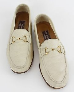 Antonio Andrea Cuzzens 10d Gold Cream Leather Mens Loafers B118