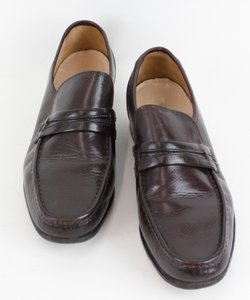 Freeman 12w Dark Brown Leather Mens Loafers B101