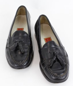 Cole Haan 8.5d Black Leather Mens Tassel Loafers B101