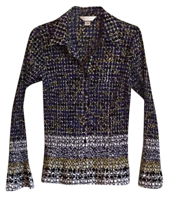 Preload https://img-static.tradesy.com/item/15981430/christopher-and-banks-blue-white-gold-item-1005-button-down-top-size-8-m-0-1-650-650.jpg