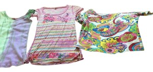 MARYLOU, FABRIQUE AUX ETATS UNIS 3 Summer Sz S Pychedelic S Vintage Midi S S 3 Unusual Tees S T Shirt Multi Colored
