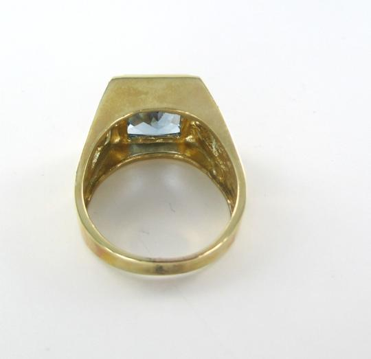 Other 14KT SOLID YELLOW GOLD RING MENS JEWELRY BLUE TOPAZ SIZE 11 JEWEL 10.8 GRAMS