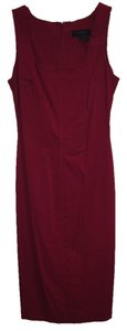 Express short dress dark red Red Midi Sleeveless Pleated on Tradesy