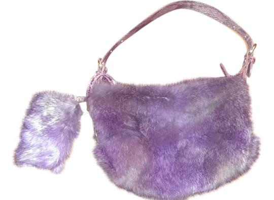 Preload https://img-static.tradesy.com/item/15981649/deep-purple-leather-snd-rabbit-fur-shoulder-bag-0-1-540-540.jpg
