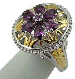 Victoria Wieck Victoria Wieck 1.32ct Rhodolite 2-Tone Sterling Silver and Vermeil