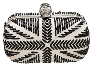 Alexander McQueen White/Black Clutch