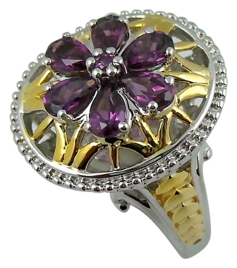 Preload https://img-static.tradesy.com/item/15981721/victoria-wieck-rhodolite-132ct-2-tone-ring-0-1-540-540.jpg