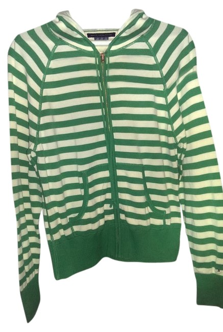 Preload https://img-static.tradesy.com/item/15981841/tommy-hilfiger-emerald-green-and-white-sweater-hoodie-activewear-size-12-l-0-1-650-650.jpg