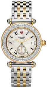 Michele Michele Caber Two Tone Stainless Diamond MOP Watch MWW16A000066