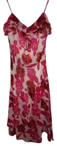 Cache Roses Floral Party Plunge Dress