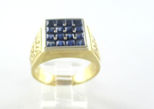 Other 14KT SOLID YELLOW GOLD RING MENS JEWELRY SIZE 10 JEWEL 8 DIAMONDS .08 CARAT