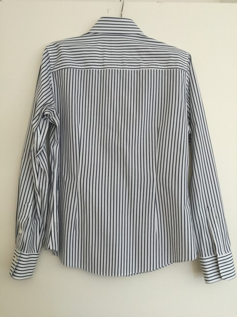 Brooks Brothers Button Down Shirt navy striped