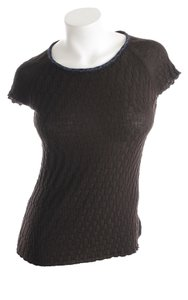 Piazza Sempione Knit T Shirt Dark Brown
