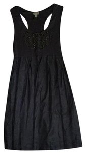 Ya Los Angeles short dress Gray with Bronze beading on Tradesy