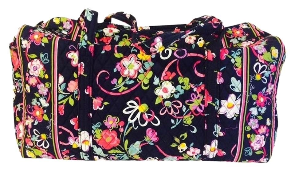27ced53c2cd7 Vera Bradley Large Duffel Ribbons Cotton Weekend Travel Bag - Tradesy