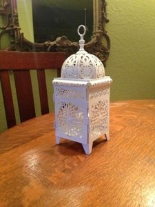 Bargain Bunch White Scrollwork Candle Lanterns 12 Lanterns Centerpiece